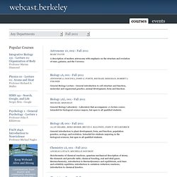 UC Berkeley Webcasts | Video and Podcasts: Events by Category