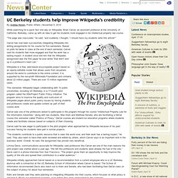 11.05.2010 - UC Berkeley students help improve Wikipedia's credibility