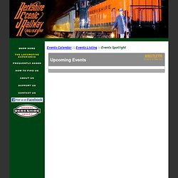 Berkshire Scenic Railway Museum - Event Spotlight