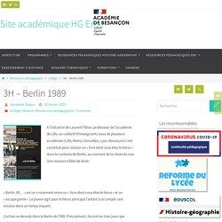 3H - Berlin 1989 - Site académique HG Emc