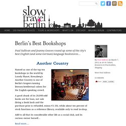Berlin's Best Bookshops