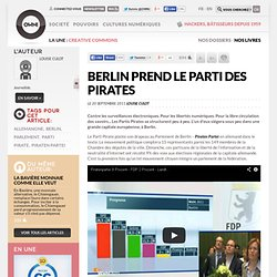 Berlin prend le parti des pirates