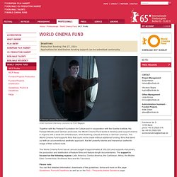 | Berlinale | Professionals | World Cinema Fund | WCF Profile