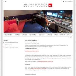 Berliner Synchron - Stellenangebote
