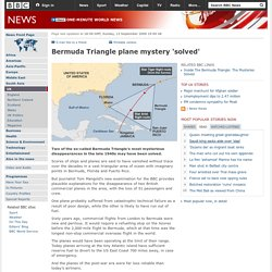 Bermuda Triangle plane mystery 'solved'