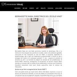 Bernadette Kaba, directrice de l'école Vinet à Lausanne