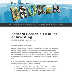 Bernard Baruch's 10 Rules of Investing