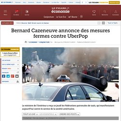 Grève des taxis contre UberPop : des incidents partout en France