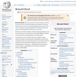 Bernard Clavel : Biographie et Bibliographie - Wikipedia