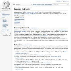 Bernard Defrance