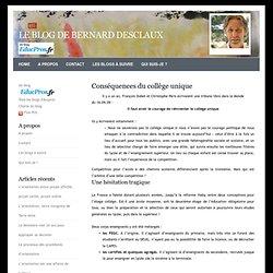 Le blog de Bernard Desclaux» Blog Archive » Conséquences du collège unique