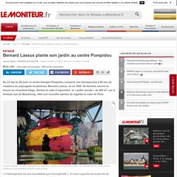 Bernard Lassus plante son jardin au centre Pompidou - Paysage
