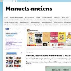 Manuels anciens: Bernard, Redon Notre Premier Livre d'Histoire CE