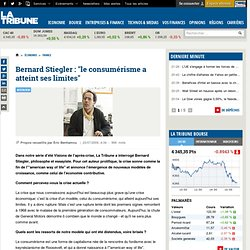 """Bernard Stiegler : """"le consumérisme a atteint ses limites"""""""