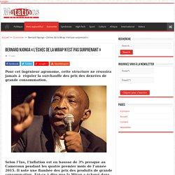 Bernard Njonga « L'échec de la Mirap n'est pas surprenant » - Mutations
