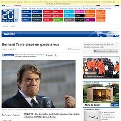 Bernard Tapie placé en garde à vue