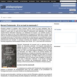 Bernard Toulemonde : Et si on tuait le mammouth ?