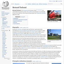 Bernard Tschumi — Wikipédia - Waterfox