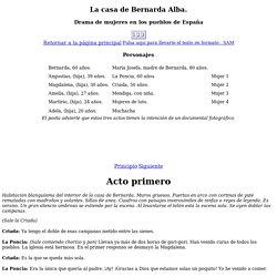 La casa de Bernarda Alba. Federico García Lorca