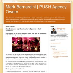PUSH Agency Owner: How to become a professional event planner