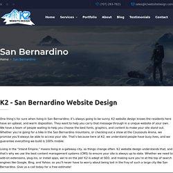 K2 - San Bernardino Website Design / SEO / WordPress / Hosting
