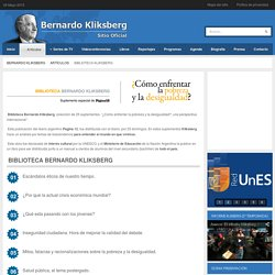 Bernardo Kliksberg - Biblioteca Kliksberg