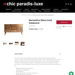 Bernastine Gold Sideboard For Sale (125cm)