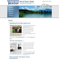 Bernd Textor GmbH: Presse