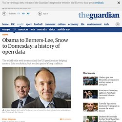 Obama to Berners-Lee, Snow to Domesday: a history of open data