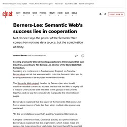 Berners-Lee: Semantic Web's success lies in cooperation | C