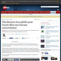 Tim Berners-Lee plaide pour l'accès libre aux travaux universitaires