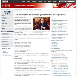 TimBerners-Lee unveils government data project