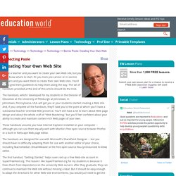 Bernie Poole: Creating Your Own Web Site