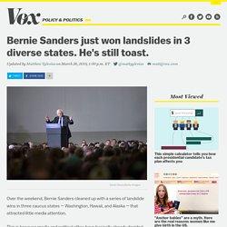 Bernie Sanders just won landslides in 3 diverse states. He's still toast.