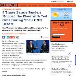 5 Times Bernie Sanders Mopped the Floor with Ted Cruz During Their CNN Debate
