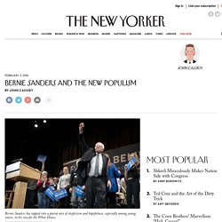 Bernie Sanders and the New Populism