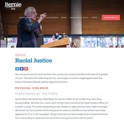 Bernie Sanders on Racism and Racial Justice