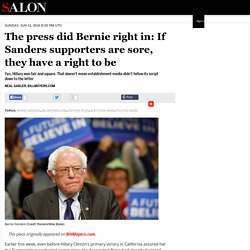 The press did Bernie right in: If Sanders supporters are sore, they have a right to be