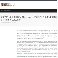 Steven Bernstein Atlanta, GA – Knowing Your Options during Foreclosure