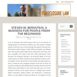 Steven W. Bernstein, A Business for People from the Beginning