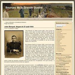 Jules Berquet, disparu le 31 août 1914