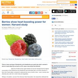 Berries show heart boosting power for women: Harvard study