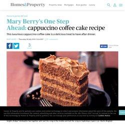 Mary Berry's One Step Ahead: cappuccino coffee cake recipe