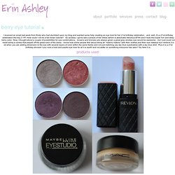 Berry Eye Tutorial | Erin Ashley