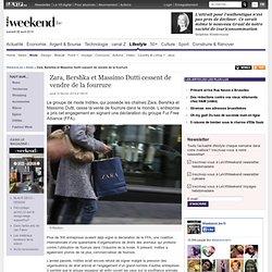 Zara, Bershka et Massimo Dutti cessent de vendre de la fourrure - Mode