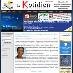 Guyane – Chantal Berthelot veut une loi pour lutter contre le pillage halieutique et aurifère