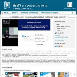 Denis Berthiaume : Evaluation des apprentissages, une tâche complexe ?