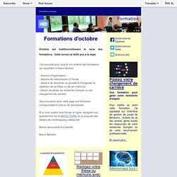 La lettre d'info de Marco Bertolini - Formation d'octobre