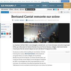 Musique : Bertrand Cantat remonte sur scène