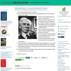 Bertrand Russell's 10 Commandments for Teachers